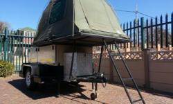 Offroad trailer, rooftop tent, steel roof rack,