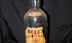 1 x Old 3 Litre Whisky Bells Bottle with most of the