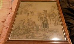 I am selling my old antique tappestery in frame about