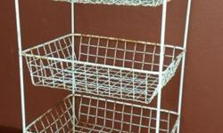 Old metal veggie rack. Rusted and chipped. Can be re