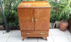 Old oak cupboard. Was painted white, now only traces of