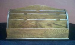 Old oak document holder. Holds size A4 documents, forms