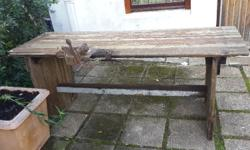 OLD WORK BENCH MADE FROM OLD DOORS R1700 AVAILABLE IN