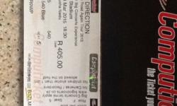 One direction ticket for 2015, only one. Roodepoort,