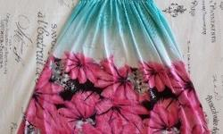 One Size Blue & Pink Summer Dress. Price excludes