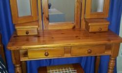 We are selling a complete Oregon Pine Bedroom Set. The