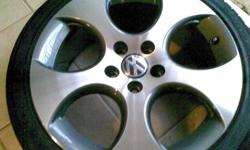 ORIGINAL GOLF 5 GTI WHEELS (MAGS AND TIRES - 70%