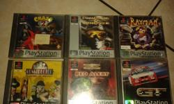 I am selling 6 original PlayStation One games, each