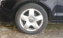 Im selling a set of Polo rims + tyre's Im willing to