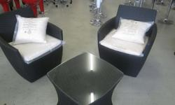 Outdoor patio Lounge Set Black R2000.00 WE ARE HAVING A
