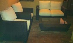 Outside furniture set for sale, couch and 2 single