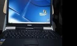 P4 Toshiba satteliite laptop, with dvdwiter, usb ports,
