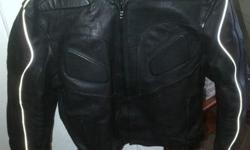 Size Meduim Padded leather jacket for sale - R1500.00
