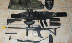 Beskrywing Full set paintball kit with extra's.