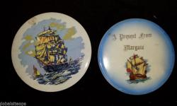 Pair of ceramic ship plaques. Beautiful set, great for