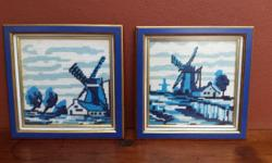 Pair of smallish Holland tapestries. Beautifully made,