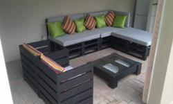 Pallet patio furniture custome made. phone to order,