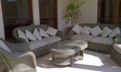 5 Piece Patio Set - R 6 000 Includes:  2 x 3 seater 2 x