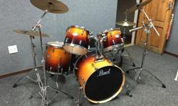 Pearl Vision VLX Drumkit with travel bags Amber Fade