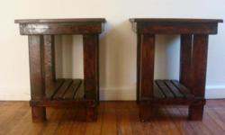 Beskrywing wooden pedestals made from reclaimed and