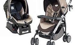 Peg perego P3 switch pram and car seat with base. same