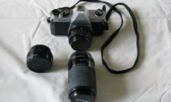 One Pentax K1000 SLR camera. (Note that this is a 35mm