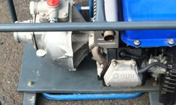 Yamaha petrol water pump with all connections and pipes
