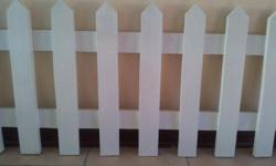 24 x 60cm (height) by 2m (length)picket fences
