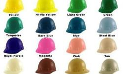 Pink hard hats, helmets, safety hats, protective hats,