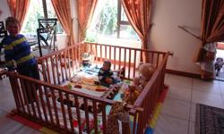 WOODEN PLAY PEN, GREAT CONDITION, VERY SPACIOUS, R500,