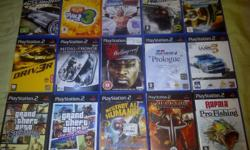 I have 36 Original immaculate condition PS2 games (no