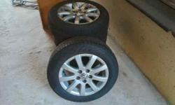 Rims n tyres fr v w polo 5 stud 3 new tyres n one 60