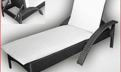 Poly Rattan Reclinable Pool Lounge Dimensions: