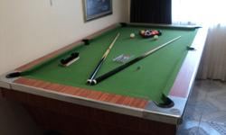 Vegas Pool Table with all Accessories Can be easily