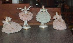 3 pink Ballterina's and 1 Pale Green Ballerina