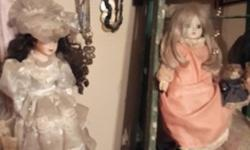 Beautiful porcelain dolls for sale. Perfect condition