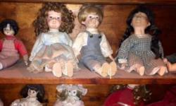Found in granny's shed : 22 old porcelain dolls in