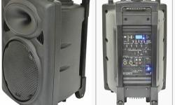 QR10 PORTABLE PA Self-contained portable PA unit based