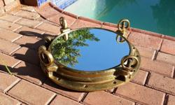 Solid brass ship porthole, 530mm diameter, 23kg in