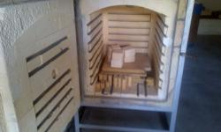 Pottery oven for sale. Includes moulds, mixer, powder