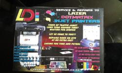 all printer repair can be done by us Laser dot ink we