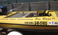 Pro Bass fishing boat for sale: Boat is in working