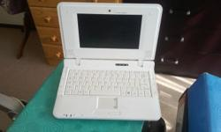 Proline notebook, white with charger, mouse and a carry