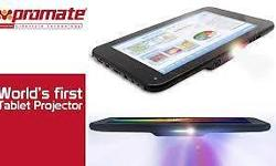 Promate lumiTab Tablet PC with Built-in DLP LED
