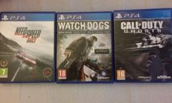 Call of Duty Ghosts, Watch Dogs and Neeed For Speed