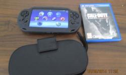 PS Vita with clove cover and case, 16G memory card and