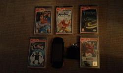 PSP plus charger and 5 games (Tron, Evolution, Avatar)