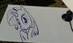 Purple Pony themed Desk for sale with free lamp