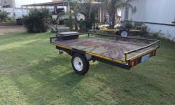 Double quad trailer side load with papers. Contact Nico