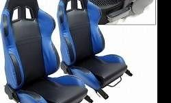 HI I HAVE A SET OF BLUE AND BLACK RACING SEATS FULLY